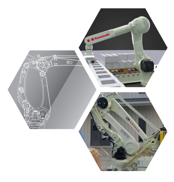robotic arm drawing , palletizing robotic arm, Silver Lake Automation robot ready for shipment